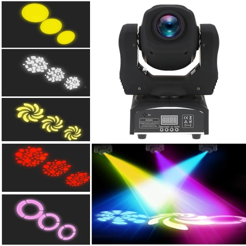 60W LED 8 Gobos 8 Colors RGBW Moving Head Stage Effect Light