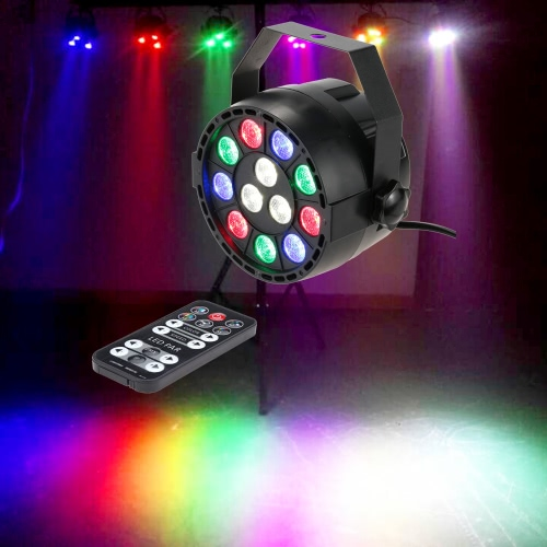 Lixada 15W Strobe RGBW LED Stage PAR Light with  Remote Controller