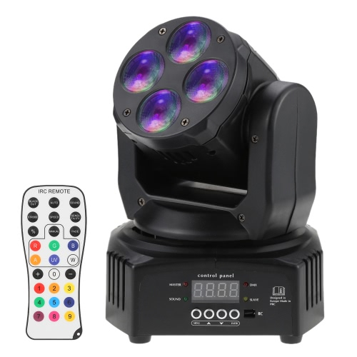 Mini 4 LEDs 50W RGBW Wash Rotating Moving Head Stage Effect Light