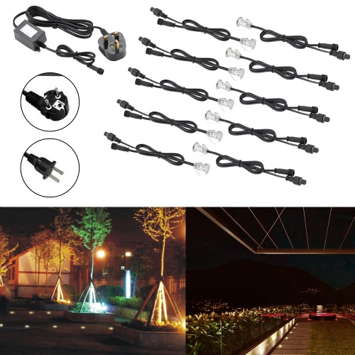 10PCS 18mm LED Deck Lights 4W 380LM SMD2835 Small Recessed In-ground Underground IP67 Waterproof Spotlight Outdoor Landscape Garden Patio Pathway Floors Stairs Decorations