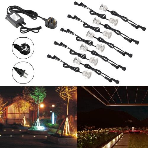 10PCS 32mm LED Światła Deck 6W 500LM SMD2835 Mały wpuszczana w ziemię Underground IP67 Wodoodporna Spotlight na zewnątrz krajobraz ogród patio Pathway Podłogi Schody Ozdoby