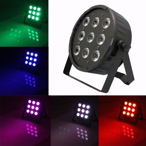 120W 9LEDs RGBW Slim Wash PAR Light Stage Effect Lamp