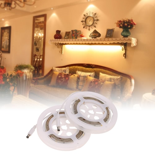 1.2M 3W LED PIR Strip Light 2PCS Double Bed Human Motion Sensor Light