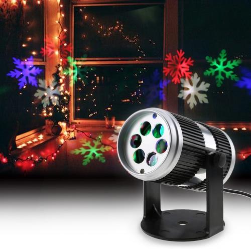 4W 4LEDs aktiviert dynamischer beweglicher Schneeflocke-Film-Projektor