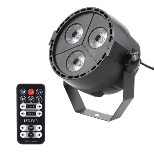 Tomshine 15W 3 LEDs 8 Channels RGBP 4-in-1 Wash Effect Stage Par Light