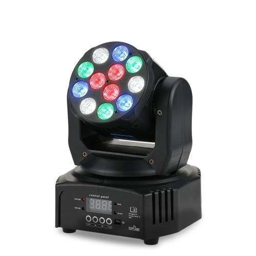 Tomshine 40W 12 LED RGBW efecto de lavado Moviendo Head Stage Light