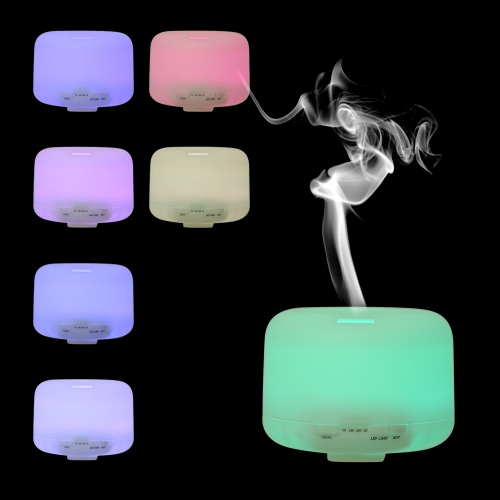 500ML 7 Colors Ultrasonic Essential Oil Aroma Humidifier LED Night Light