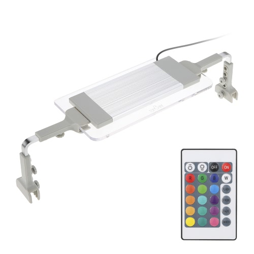Tomshine Aquarium Light SMD5050 Ultra Thin RGB LED Multi Color Changing  with IR 24 Keys Remote Control Flash Strobe Fade Smooth Visual Effect for Tank