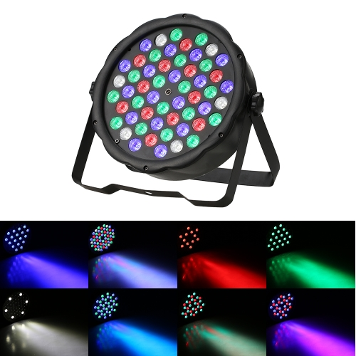 70W 54LEDs RGBW Plastic Flat Stage Par Light