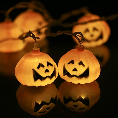 20LEDs 16.4ft Pumpkin String Light Lamp for Halloween Christmas Party Festival Decoration