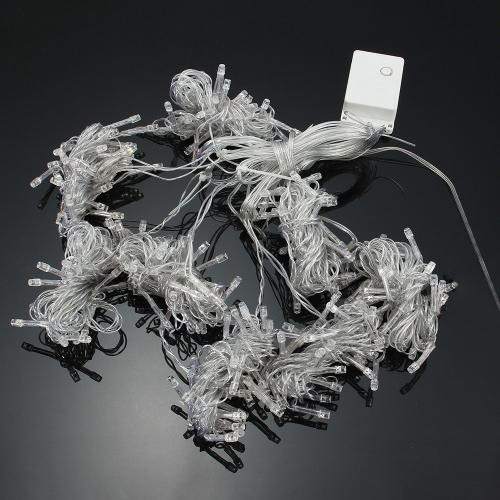 3 * 3M 448 Batería Operado Cortina LED String Lamp