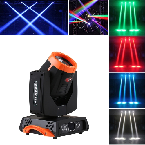 7R Sharp 230W RGBW DMX512 Движущаяся головка Beam Pattern Prism Zoom Этап освещения для ближнего света Gobo Light Spotlight 16 + 8 Prism DJ Master-Slave LED Lighting