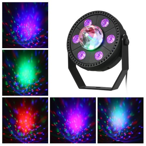 7W RGB Портативный светодиодный фонарик с шариковой лампой