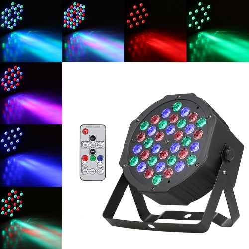 40W 36LEDs RGB Mini Flat Stage Par Light con control remoto