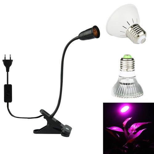E27 Bulb Flexible Clip-On Schreibtischlampe Halter für den Anbau von Pflanzen