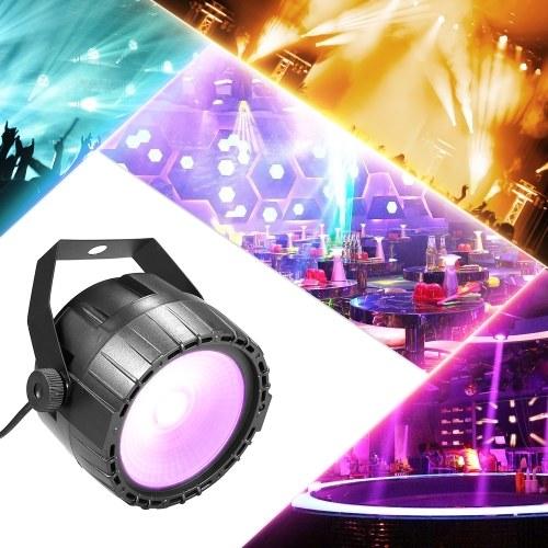 10W RGB UV COB LED Par Light Wireless with Remote Control