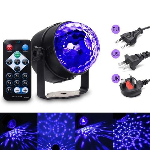 6W 6 светодиодов Colorful Magic Ball Light с дистанционным управлением