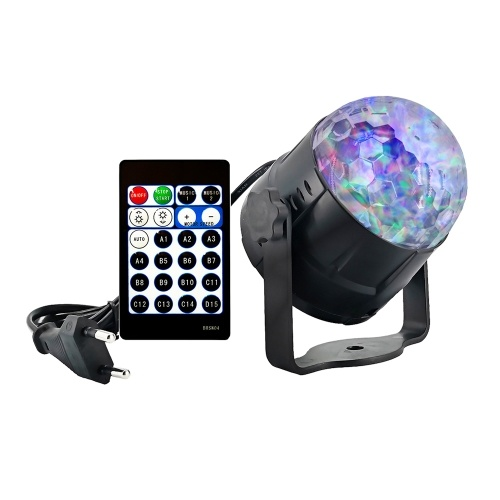 6W 15 Colors Water Wave Projecting Lamp with Remote Controller