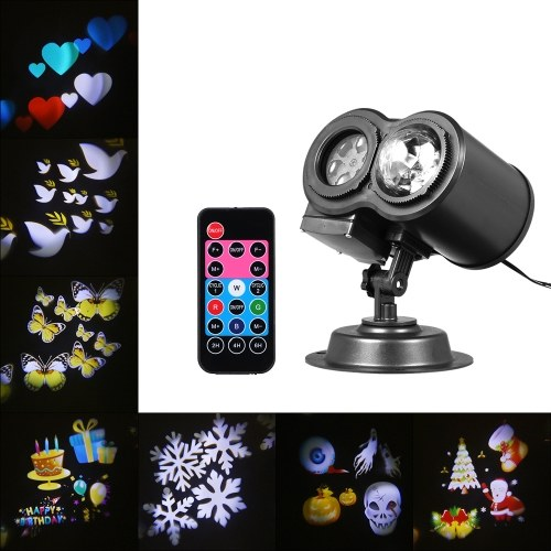 2 in 1 Wasserwelle Lampe Kaleidoskop Projektor mit Fernbedienung
