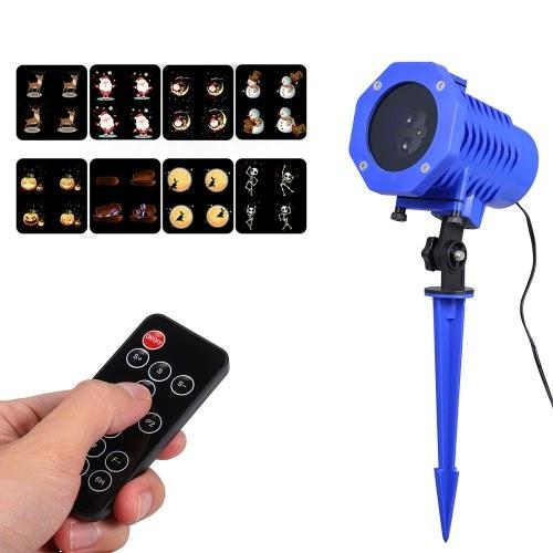 4 светодиодных анимированных проектора Stage Light Водонепроницаемый лазерный проектор
