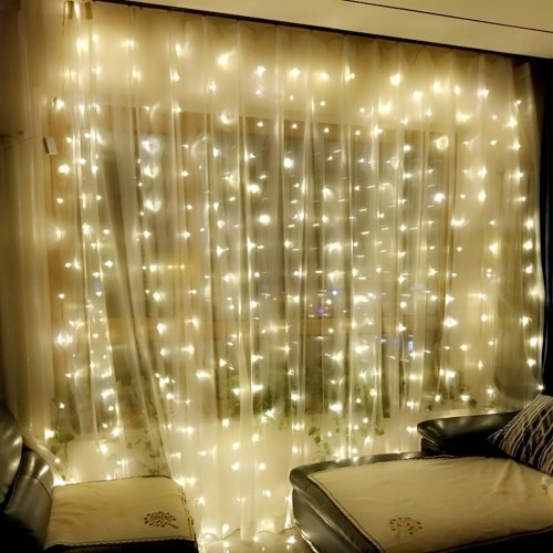 3×3 Meters 300 LEDs Curtain Light with 8 different Lighting Modes