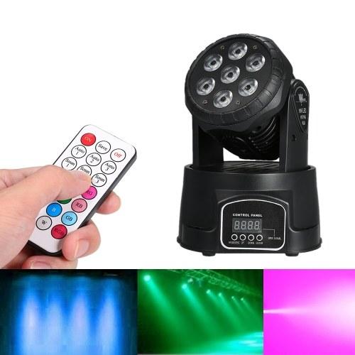 AC100-240V 105W 7 LED RGBW Stage Light con telecomando