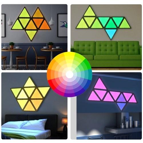 9PCS RGBW Smart Tangram Landscape LED Light Puzzle (APP Controller Version)