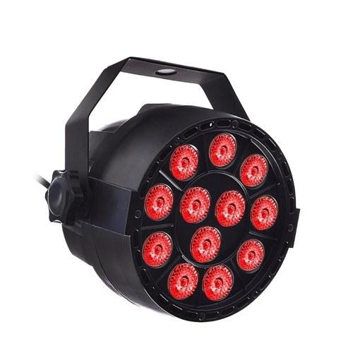 AC90-240V 18W 12 * 3 в 1 RGBW Светодиодная лампа Par Light Lighting Fixture