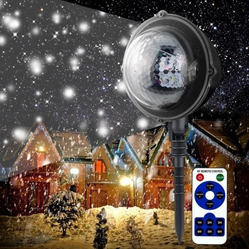 Mini Projektion Licht Urlaub Schneefall Spotlight