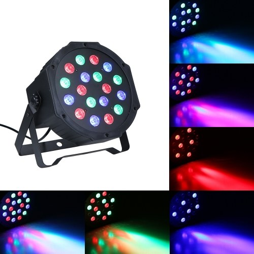 AC90-240V 18W 18 LEDs RGB Stage Par Light