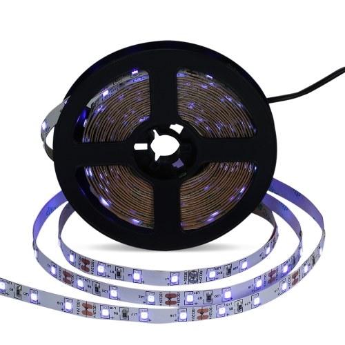 AC100~240V 5m/16.4ft 300 LEDs LED UV Blacklight Strip Light