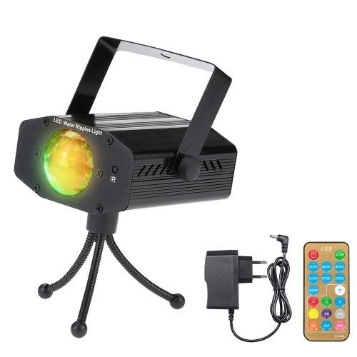 AC100-240V 10W 1 * RGBW 4 dans 1 lampe d'étape à effet d'ondulation de l'eau de LED