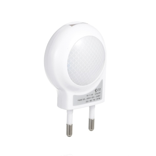 AC110-240V 0.7W Plug-in USB Mini LED caracol de luz nocturna