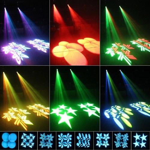 Светодиоды 120W Движущиеся головки Сценический свет 9 / 15CH 8 моделей и 16 цветов DMX512 Звукоусилитель Gobos