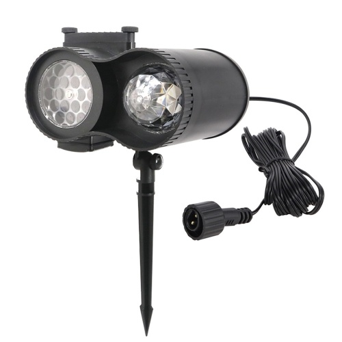 AC100V-240V 15W LEDs 48 Luces de proyector de mini proyectores Lámpara giratoria de copo de nieve giratoria Agua Onda Foco Paisaje dinámico Césped Luz giratoria