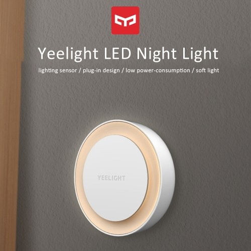 Yeelight YLYD10YL Plug-in LEDs Night Light Warm White Energy Saving Lighting Sensor for Living Room Bedroom Hallway Stairs