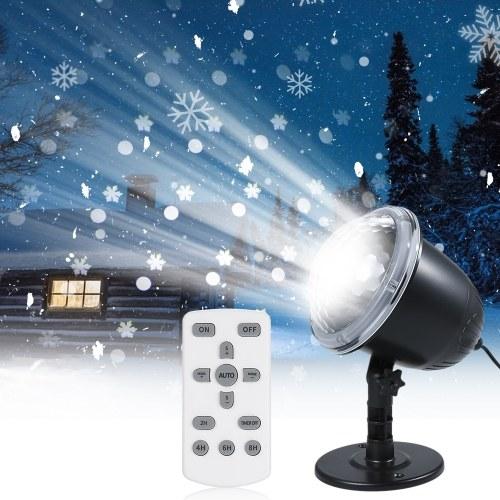 Luz de proyector LED de nevadas con control remoto