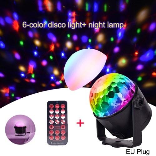 AC100V-240V 7W Mini 6-Color Magic Ball Stage Light with Remote Control