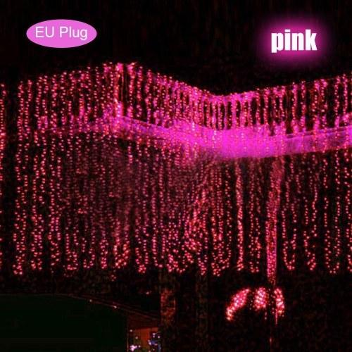 3x3 metri AC 110-240 V 300 LED String Light Light Curtain Lights Illuminazione di Natale Decorazione della casa Illuminazione