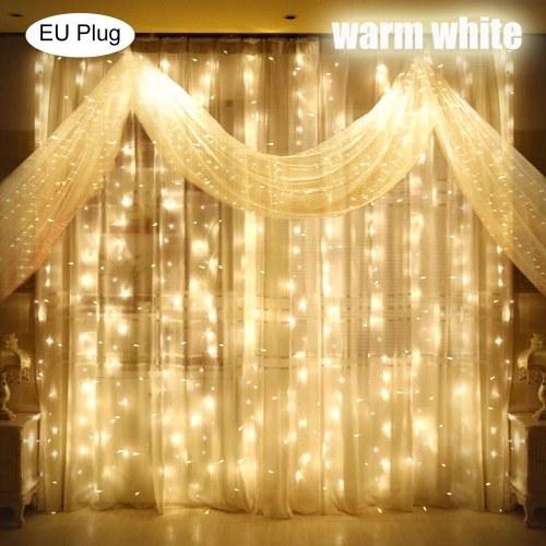 3x3 Meter AC 110-240V 300 LEDs String Light Curtain Lights Christmas Light Home Decoration Lighting