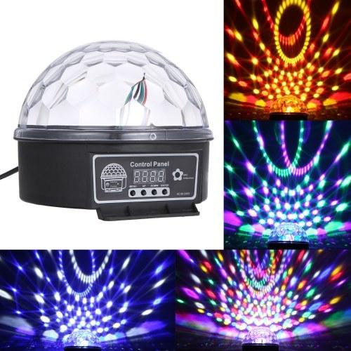DMX512 LEDs 6 cores bola luz de palco com controle remoto 6 canais som ativado luzes do partido