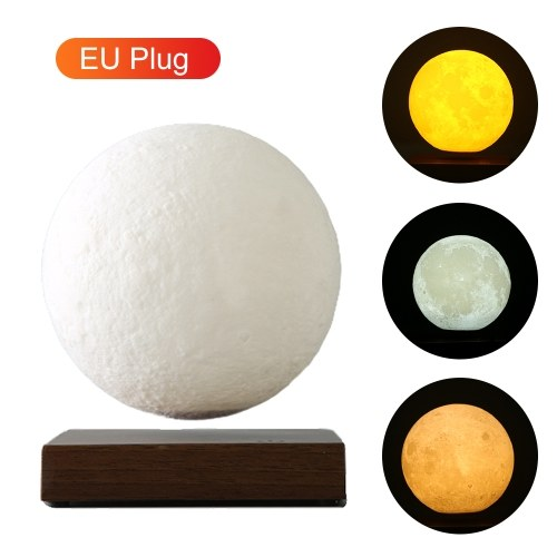 Lámpara de luna de levitación magnética con base Impreso en 3D Luz de noche de luna led Lámpara lunar Decoración del hogar