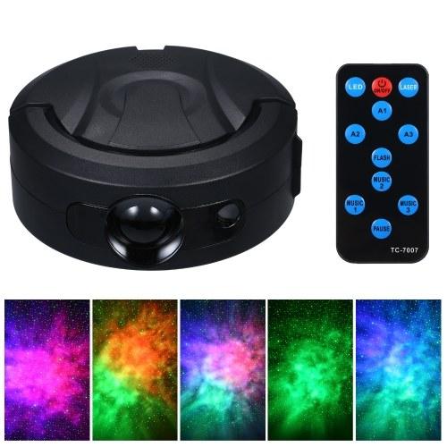 Sternprojektorlicht mit Fernbedienung RGB-Farbe Oceanwave-Effekt Sprachsteuerung Nachtlicht