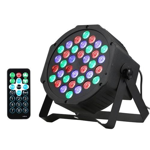 36 LEDs luz de palco com controle de voz lâmpada RGB mutável para discoteca show com controle remoto luzes de discoteca