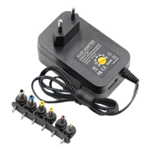 3V 4.5V 5V 6V 7.5V 9V 12V 2A 2.5A AC / DC адаптер Регулируемый универсальный адаптер питания 30W