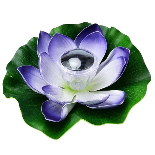 Solar Powered LEDs Lotus Light RGB Color Changing Water Floatiing Flower Light IP65 Water-resistant Night Lamp