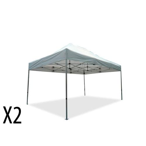 faltpavillons 3x4 5 m alu 40 polyester wasserdicht zweierpack. Black Bedroom Furniture Sets. Home Design Ideas