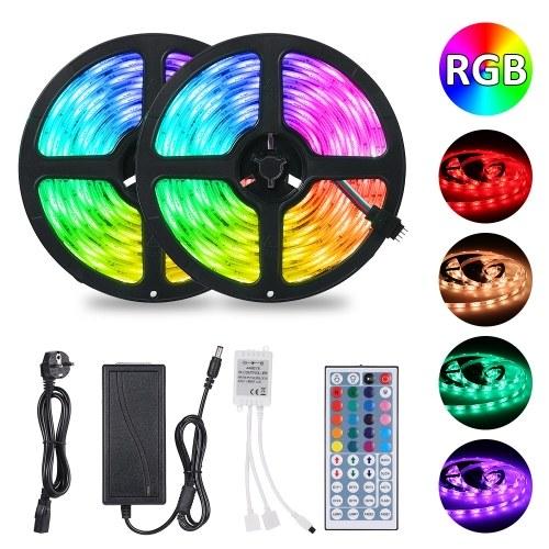 Tomshine 2x5m 300leds RGB Strip Lights Kit with 44 Keys IR Remote Controller