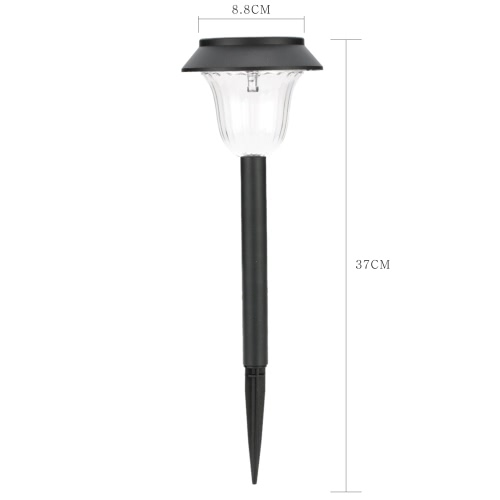 2 Pieces Solar Powered Lamp Security Outdoor Wireless Ground Landscape Light Lawn Lamp Garden Patio Pathway Yard LED with Stake Spike