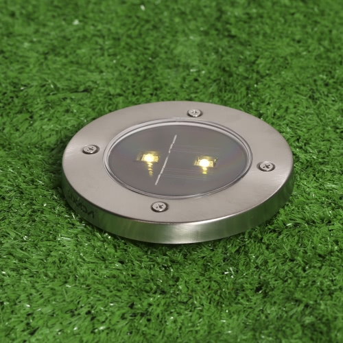Lixada 4Pcs Solar Powered Garden Pathway Lawn Landscape Decoration LED Lamp Spike Light Sense